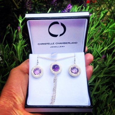 Christelle Chamberland Jewellery packaging design by Vanja Karas, Magenta Grove London