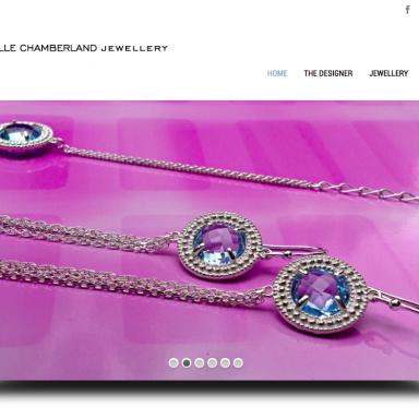 Christelle Chamberland Jewellery website design by Vanja Karas, Magenta Grove London